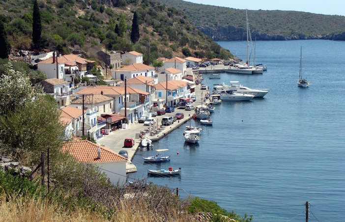 The village of Gerakas where Telly's father was born