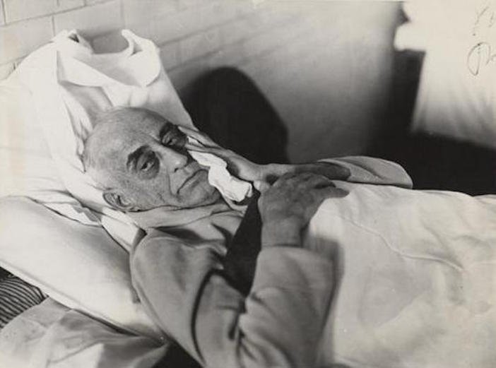 Pantages in his cell in San Quentin prison