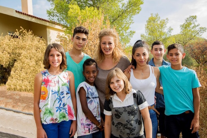 Children from one of the SOS Children's Villages in Greece